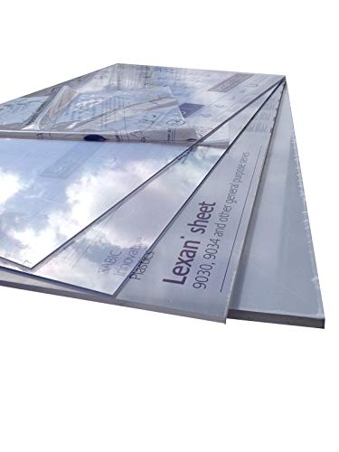 Polycarbonate (verre acrylique, plexiglas*) [1000 x 600 mm] Plaque incolore, plaques.