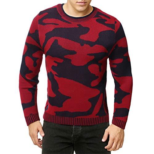 PRJN Mens Long Sleeve Crewneck Fleece Sweatshirt Mens Printed Sweatshirt Camo Overhead Sweater Military Crew Neck Sport Casual Style Mens Sweatshirt Camo Crew Sweatshirt Men Camouflage Sweater