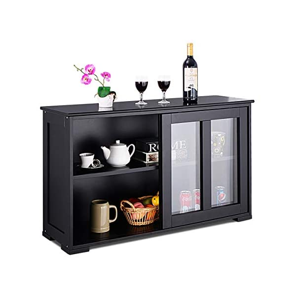 Costzon Kitchen Storage Sideboard, Antique Stackable Cabinet for Home Cupboard Buffet Dining Room