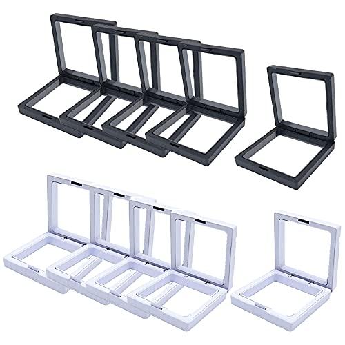 Transparente 3D Schwimmende Rahmen Display Stand / Box, PE Film Schmuck Aufbewahrungsbox Transparente Schmuck Aufbewahrungsregal (10PCS 11*11)