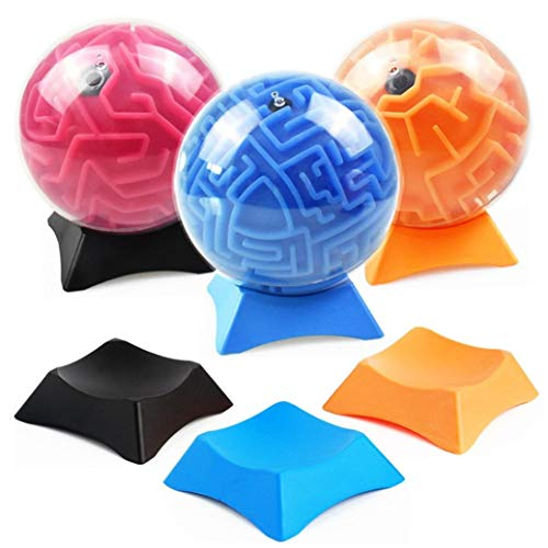 Ogquaton Maze Ball Stand Mini 3D Magic Puzzle Inteligencia e idea Maze Game Toys Base Duro desafo Laberinto Regalos para nios y adultos Base solo Duradero y prctico