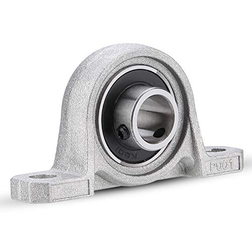 Rodamientos con Soporte, 8mm KP08 Rodamiento de Soport Block Auto Ajuste Automático Centro Montada Base Solida, Rodamientos de Bloques de Almohada Cojinetes Brida