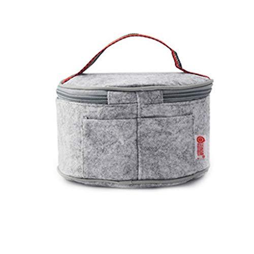 Qinghengyong Acero Interior Lunchbox apilable Prueba de Acero Inoxidable Fiambrera Fugas con Aislamiento Bento Box portátil Redondas de Acero Desmontable Capa 1/2/3