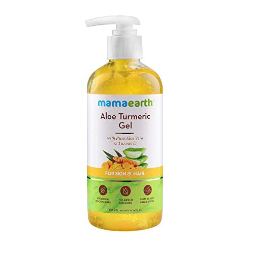 Mamaearth Aloe Turmeric Gel From 100% Pure Aloe Vera For Face, Skin & Hair with Turmeric & Vitamin E (300 ML)