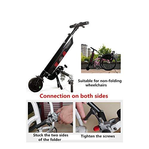 NMDD Leichtgewichtiger Rollstuhl, Doppelfunktion, robust, offen/schnell zusammenklappbar, kompakter elektrischer Stuhlantrieb mit elektrischem oder manuellem Rollstuhl, Reichweite 45 cm B
