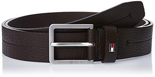 Tommy Hilfiger Modern Pebble Leather Belt 3.5 Cintura, Marrone Scuro, 105 Uomo