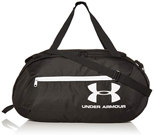 Under Armour UA Roland Duffle MD, Bolsa de Deporte para Hombre, Color Negro (6)/Blanco, tamaño Talla única