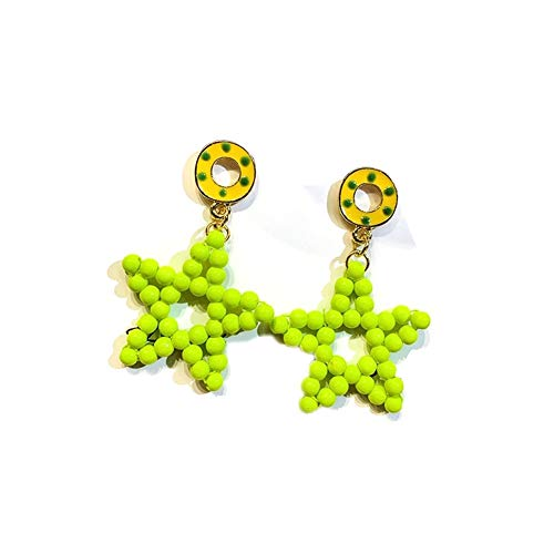 XIANRUI handgemaakte vijfpuntige ster oorbellen zilveren needle hangers oorbellen