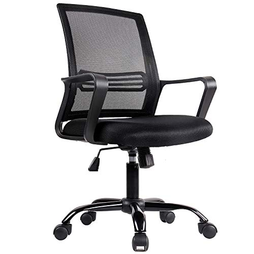 Office Chair, Mesh Office Computer Swivel Desk Task Chair, Ergonomic Executive Chair with Armrests
