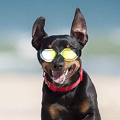 Hunde Schwimmbrille mit UV-Sonnenbrillen, wasserdicht, winddicht, für kleine Hunde, Doggy Brille für Welpen und Katzen, Tierarzt mit Augenschutz