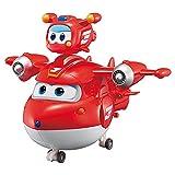 Super Wings Súper Mascota Juguetes de deformación Regalo De Niño Robot De Deformación Aeronave Coche Navidad Cumpleaños Año Nuevo Regalo Plano Deformado Juguete Combinación 12CM,Jett