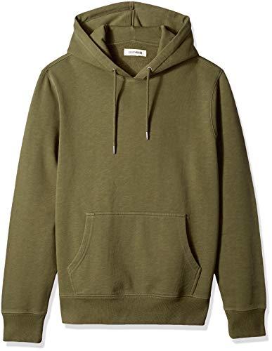 Marca Amazon - Goodthreads – Sudadera con capucha de forro polar para hombre, Verde (olive), US M (EU M)