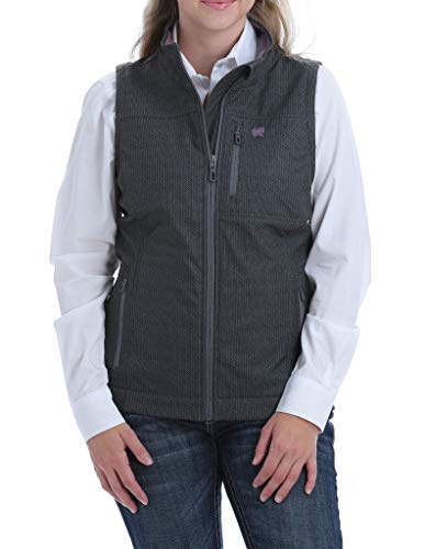 Cinch Women's Printed Bonded Concealed Carry Vest, Gray, XL