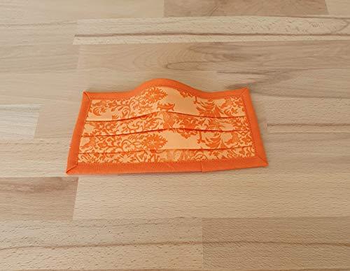 Mund- und Nasen- Maske Ornamente Orange waschbar (Handmade in Germany)