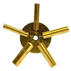 Universal Brass Antique Grandfather Winding Clock Key (Odd)