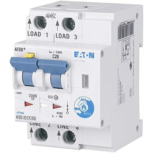 Eaton 187220 Brandschutzschalter, 2polig, B20A, 30Ma, kV, Typ A