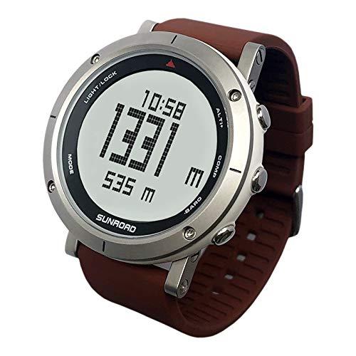 Festnight Multifunktionale Outdoor-Sport Herrenuhr Höhenmesser Barometer Kompass Wetter 50 Meter wasserdichte Uhr für Bergsteiger Laufen Trekking Camping