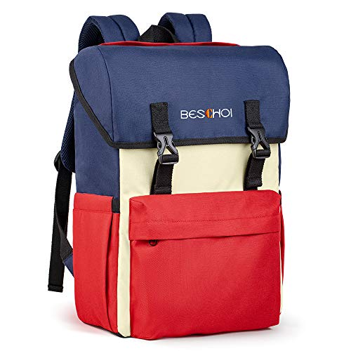 Beschoi Zaino per Laptop Casual ,Zaino per PC da 15,6 Pollici, Zaino per Computer Universale Impermeabile da Viaggio/Scuola/Trekking/Tempo Libero