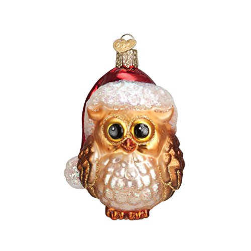 Old World Christmas Assortment Glass Blown Ornaments for Christmas Tree Santa Owl