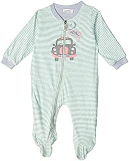 Giggles Zip-up Striped Long Sleeves Jumpsuit for Boys