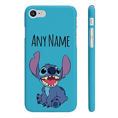 Phone Kandy - Carcasa rígida para iPhone y Samsung, diseño de dibujos animados, Puntada azul., iPhone 7