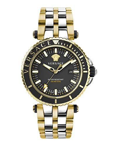 Versace Herrenuhr VEAK00518 V-Race Bicolor Edelstahl Datum