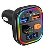 VTIN FM Transmitter For Car Bluetooth 5.0, 41W PD & QC3.0 Quick Charge