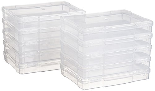 """IRIS 5"""" x 7"""" Photo Storage and Embellishement Craft Case, 10 Pack, Clear"""