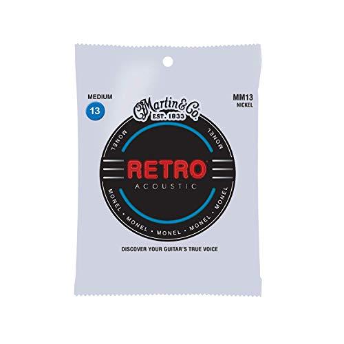 Martin Retro Acoustic Guitar Strings, Medium - .013-.056 (MM13)
