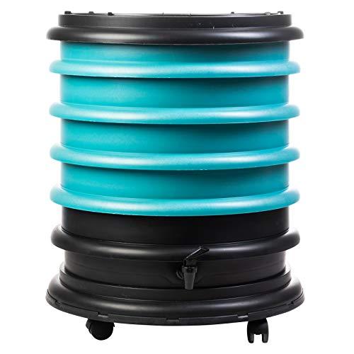 WormBox: Vermicompostador 4 bandejas Turquesa - 64 litros - Recicle Sus desechos orgánicos en Fertilizantes para Sus Plantas