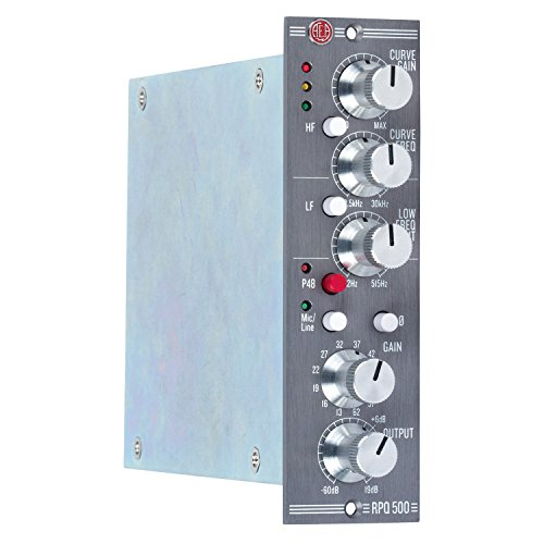 AEA RPQ500 1-channel 500 Series Preamp Module with High-frequency and Low-frequency Filters, 80dB of Gain, and Mic/Line-level Input Switching
