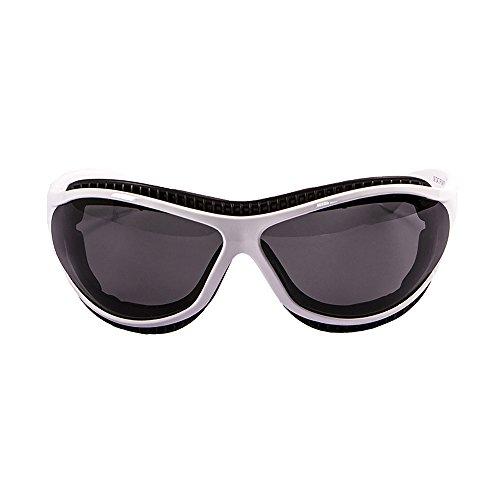 Ocean Sunglasses Tierra de Fuego - Gafas de Sol polarizadas - Montura: Blanco Mate - Lentes: Ahumadas (12200.3)