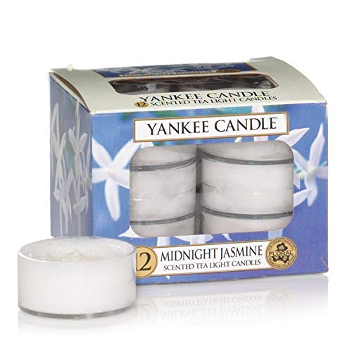 Yankee Candle Duft-Teelichte, Midnight Jasmine, 12er-Packung