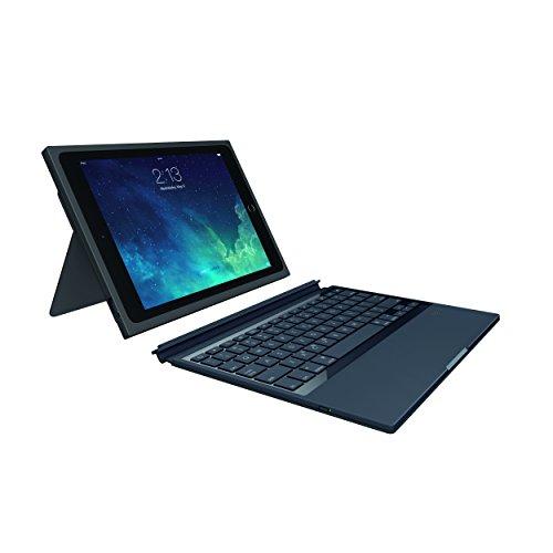 Logitech 920-007429 BLOK Tastatur Hülle für Apple iPad Air 2 schwarz/rot (QWERTY, englisches Tastaturlayout)