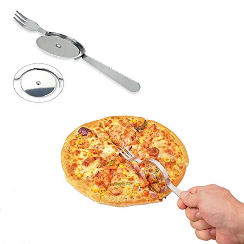 The pizza knife and fork (Silver)
