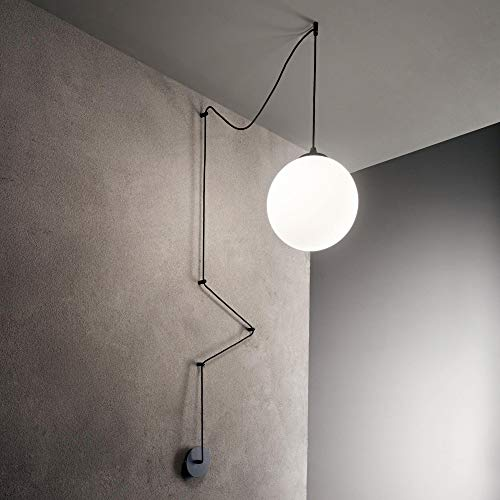 LAMPADARIO SFERA IDEAL LUX ART BOA SP1 NERO