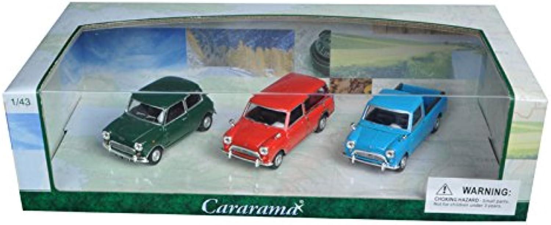Cararama Modellautos 3er Set  Mini Cooper  1 43