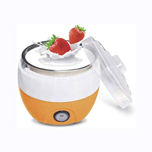 JYDQM Yogurt Maker-Automatic Yogurt Maker, elettrodomestici Automatico Yogurt Yogurt Maker Acciaio Inossidabile Interno del Contenitore, Yogurt Maker (Color : Orange)
