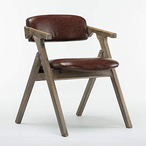N/Z Home Equipment Nordic Massivholz Klappstuhl Moderner Umweltschutz PU Bequemer Außenstuhl Business Negotiation Lounge Chair Für Camping Festivals Garten