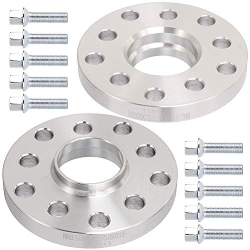 OCPTY 2PCS 5 Lug Hub Centric spacers 17mm Thick 5x100 to 5x112 Wheel spacers Adapters with 14x1.5 Studs Compatible with Audi S6 S8 RS4 RS6 Q3