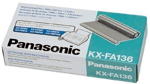 Panasonic KX-FA136 KX-F1810 F1820 F1830 KX-FM205 FM210 FM215 FM220 FM230 FM255 FM260 KX-FP195 FP200 FP245 Film Roll Refill in Retail Packaging