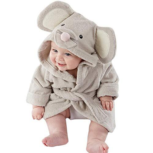 GBBC Babyhanddoek Badjas Mantel Baby Leuke Dierlijke Vorm Kid Hooded Mooie Katoenen Baby Badhanddoek Ontvangen Deken, Muis
