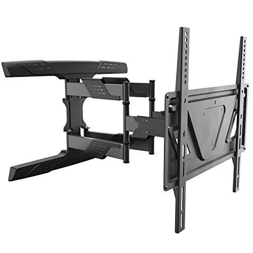 RICOO TV Fernseher Wand-Halterung Schwenkbar Neigbar (S9544) Universal 32-65 Zoll (bis 30-Kg, Max-VESA 400x400) Fernsehhalterung Curved LCD OLED Bildschirm