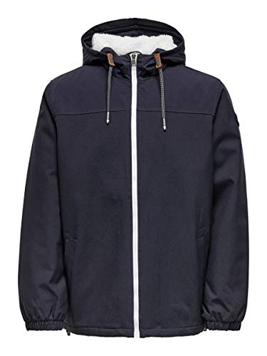 Only & Sons ONSEMIL AW Windbreaker OTW Noos Chaqueta, Azul Oscuro, XL para Hombre