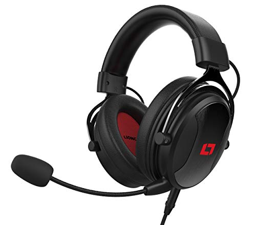 Lioncast LX55 Gaming Headset mit Mikro für Playstation 5 / PS5 / PS4 / Switch/PC, brachialer Stereo Sound, HiFi Soundqualität, 53mm-High-Performance-Treiber, geschlossene Over-Ear Kopfhörer