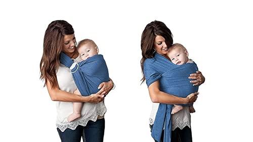 Uamita - Fular portabebés elástico de algodón orgánico transpirable, longitud para mujeres de cuerpo pequeño, se puede utilizar tanto en el cuerpo de la madre como con los anillos