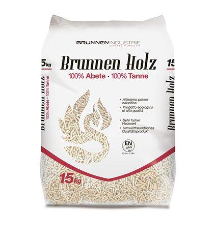 65 Säcke 15kg von BRUNNEN HOLZ PELLET 100% Fichte Top Qualität