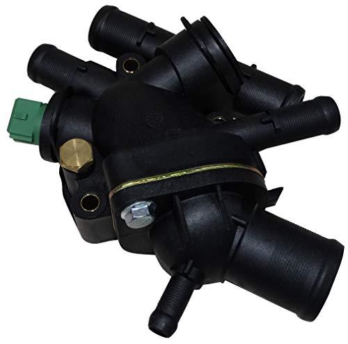 AERZETIX: Caja de salida motor cuerpo de termostato 89°C líquido de refrigerante compatible con OEM 7700112491 7701474248 C43345
