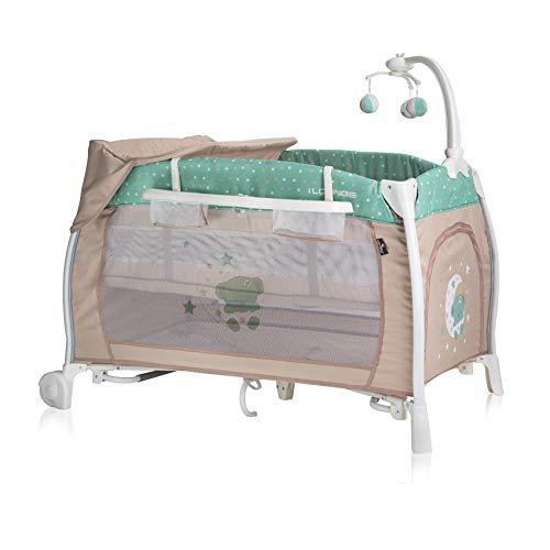Lorelli Ilounge - Cuna plegable para bebé, color verde