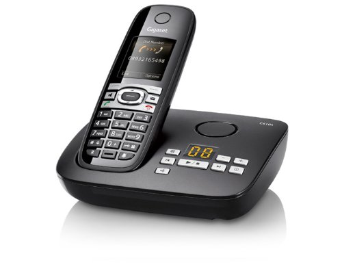 Gigaset C610A Dect-Schnurlostelefon mit Anrufbeantworter, pianoschwarz